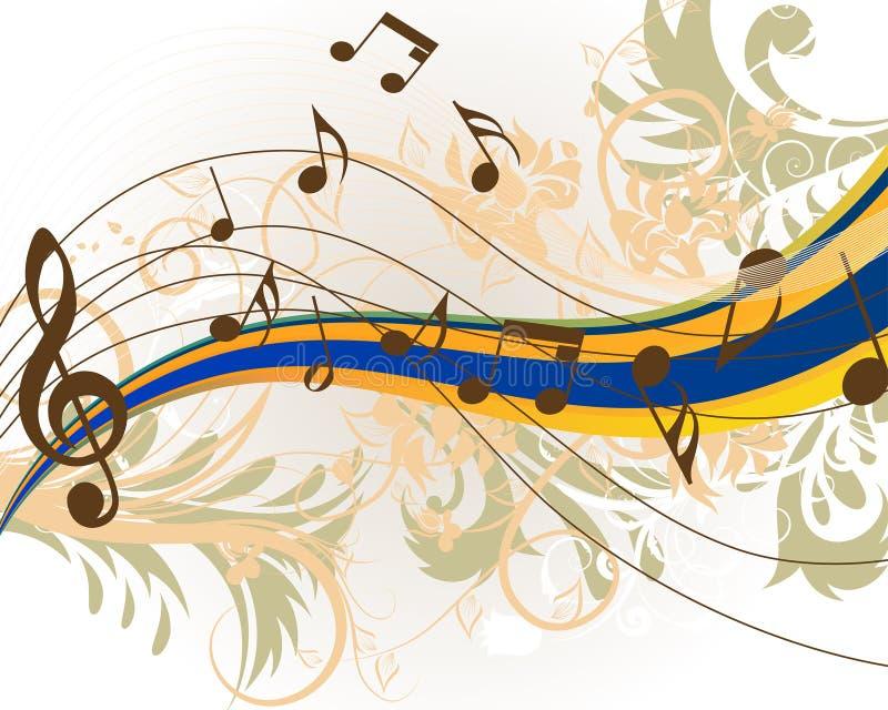 Grunge musicale royalty illustrazione gratis