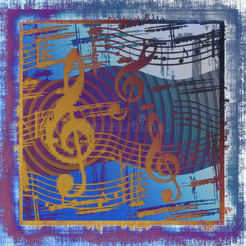 Grunge musicale illustration de vecteur