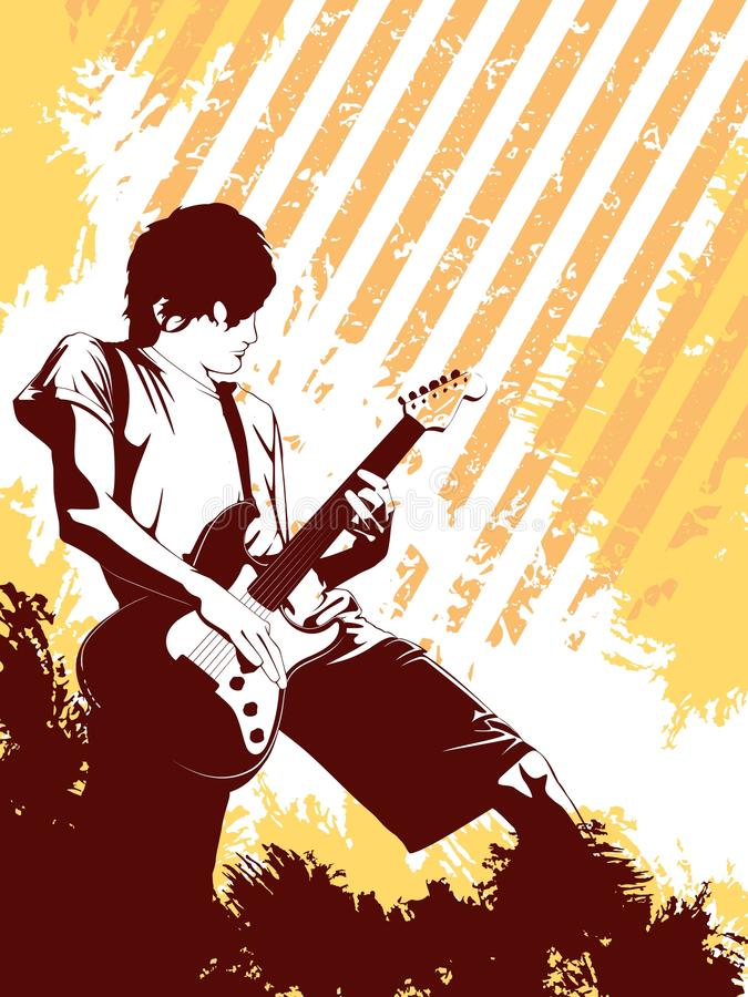 Download Grunge Musician stock vector. Illustration of playing - 10698184