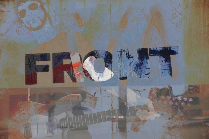 Grunge musician illustration stock photography
