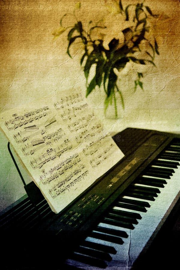 Grunge Musik stock abbildung