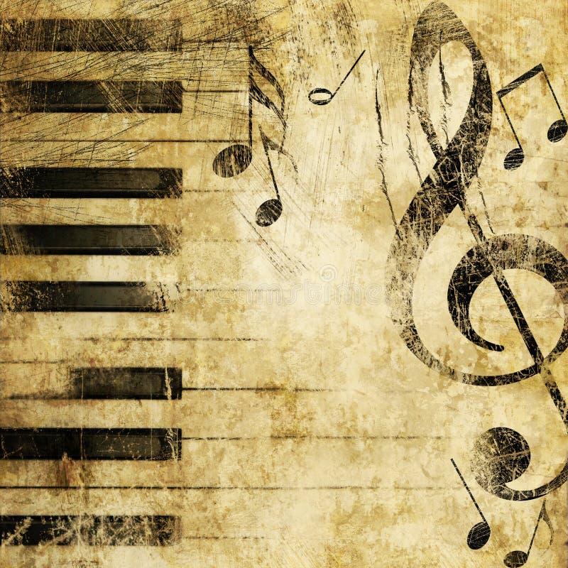 Grunge Musik vektor abbildung