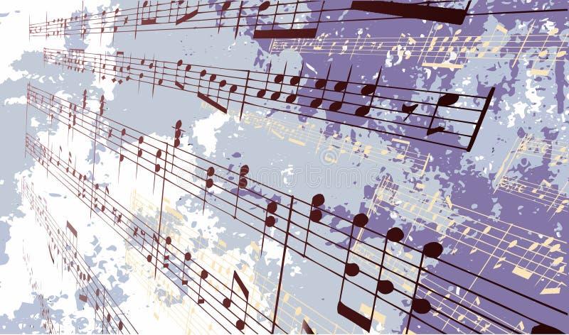 Grunge Musik-Hintergrund lizenzfreie abbildung