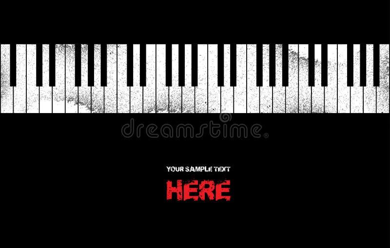Grunge Musik-Klavierhintergrund vektor abbildung