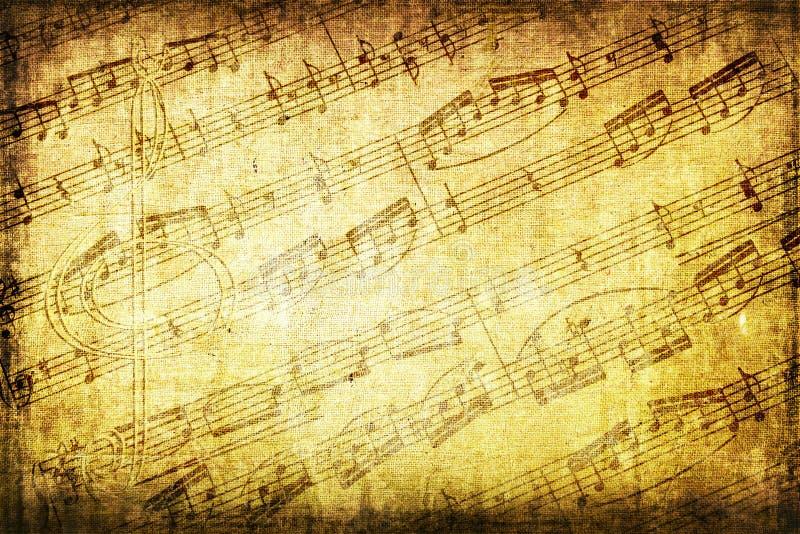 Grunge Musikalhintergrund lizenzfreie stockfotografie