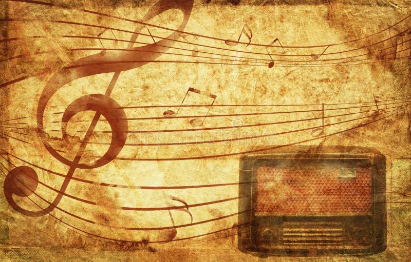 Grunge Musikalhintergrund lizenzfreie stockfotos
