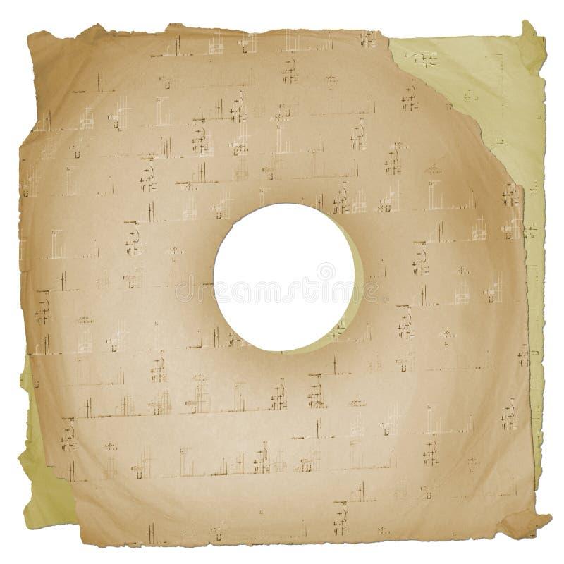 Grunge musikalischer Hintergrund mit Anmerkungen vektor abbildung