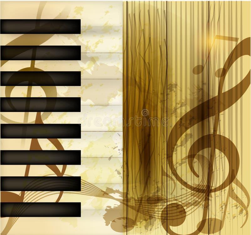 Grunge musikalischer vektorhintergrund lizenzfreie abbildung
