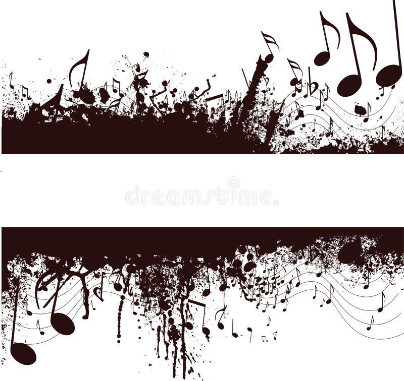 Grunge Musikanmerkungen stock abbildung