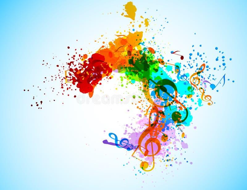 Grunge musikbakgrund stock illustrationer