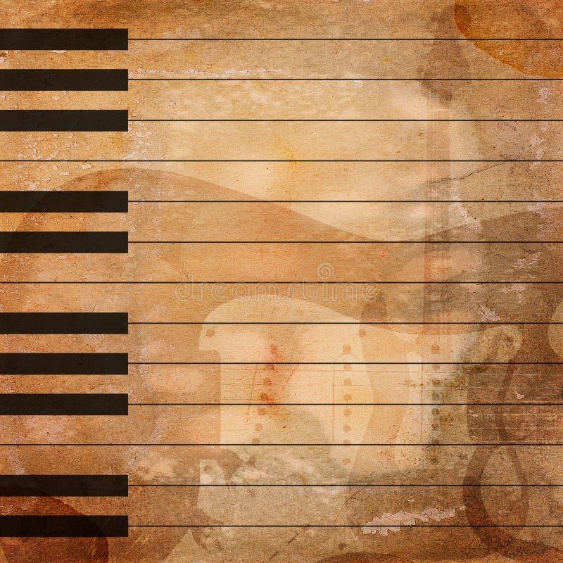 Grunge muzikale achtergrond stock afbeelding