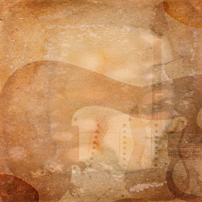 Grunge muzikale achtergrond stock foto's