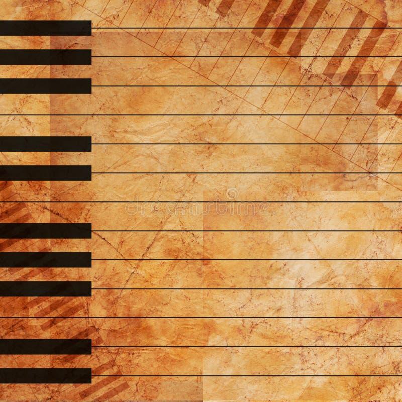 Grunge muzikale achtergrond royalty-vrije stock foto's