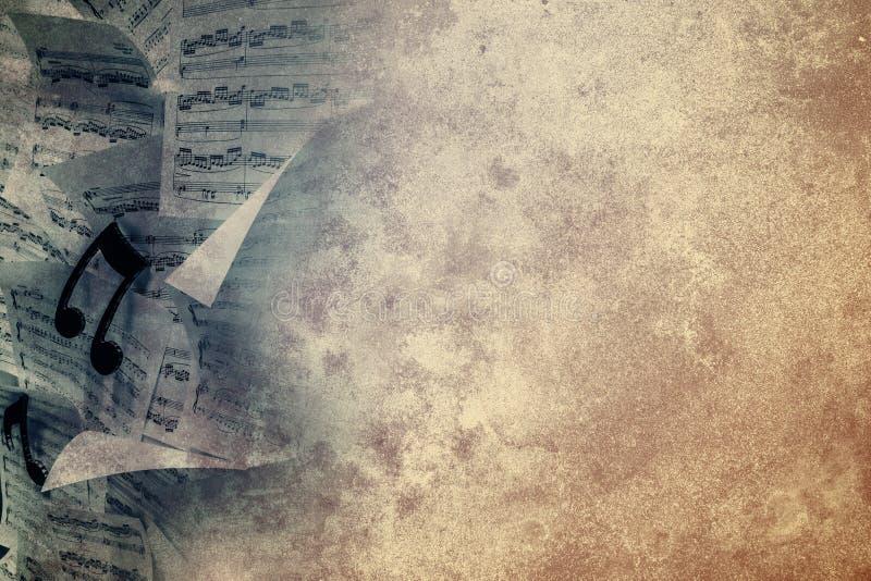 Grunge muzyczni prześcieradła royalty ilustracja