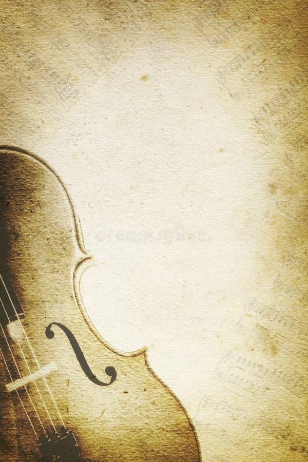 Grunge Muzyczny tło z wiolonczelą zdjęcie royalty free