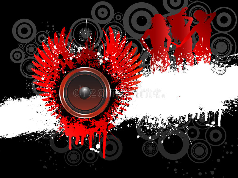 grunge muzyka royalty ilustracja