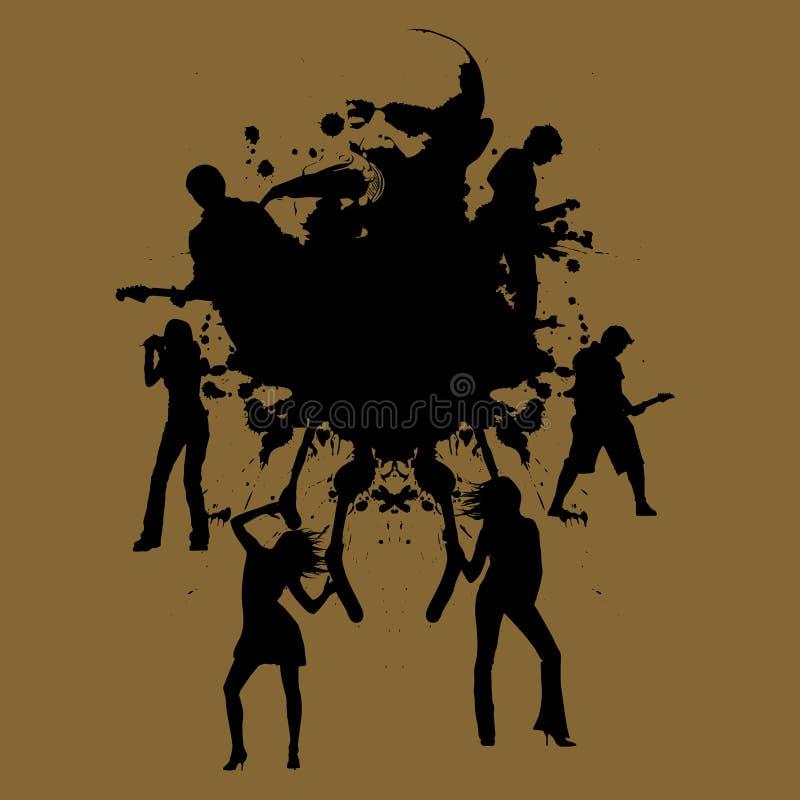 grunge muzyki ilustracji