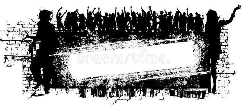 Grunge Muzyki Tło ilustracja wektor