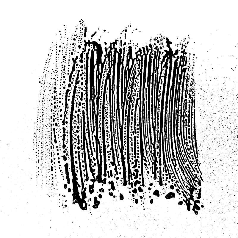 Grunge mydlanej tekstury czarny i biały zboczeniec ilustracji