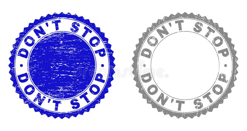 Grunge N'ARRÊTEZ PAS les joints rayés de timbre illustration libre de droits
