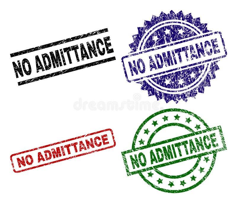 Grunge n'a donné à AUCUN timbre une consistance rugueuse de joint d'ACCÈS illustration de vecteur