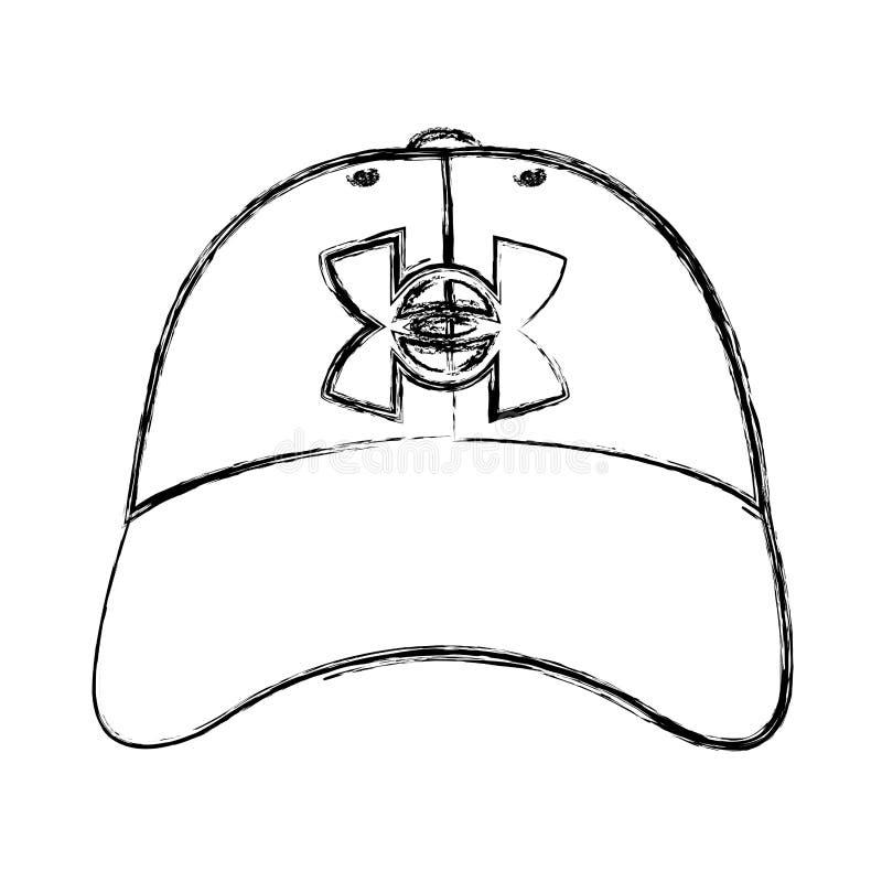 Grunge nakrętki samiec stylu przypadkowy akcesorium royalty ilustracja