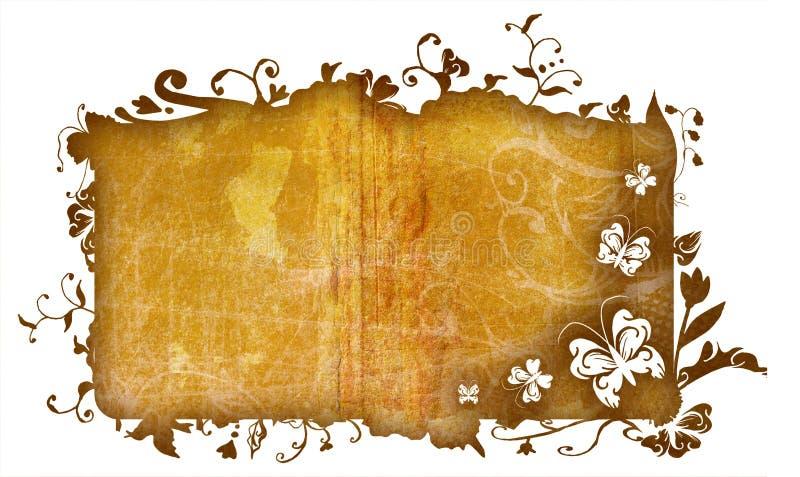 Grunge nature frame stock illustration