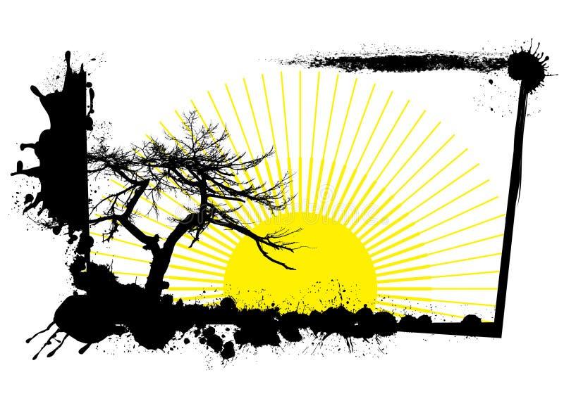 Grunge nature frame royalty free illustration