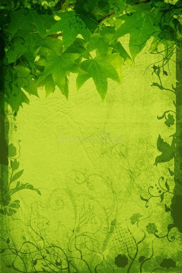 Grunge nature page royalty free illustration