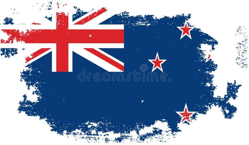 Grunge new zeland flag vector illustration