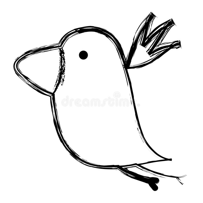 Grunge nice bird fauna animal royalty free illustration