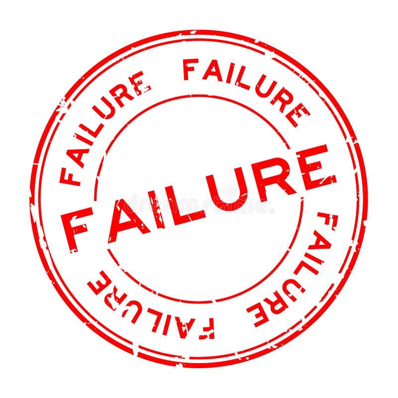 Grunge niepowodzenia słowa czerwonego round foki gumowy znaczek na białym tle ilustracja wektor