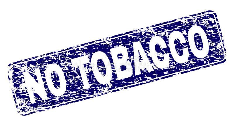 Grunge NINGÚN sello redondeado enmarcado TABACO del rectángulo ilustración del vector