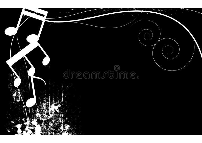 Grunge noire et blanche de musique illustration stock