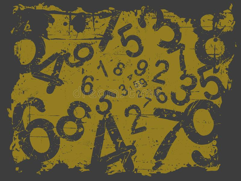 Grunge Number Background stock image
