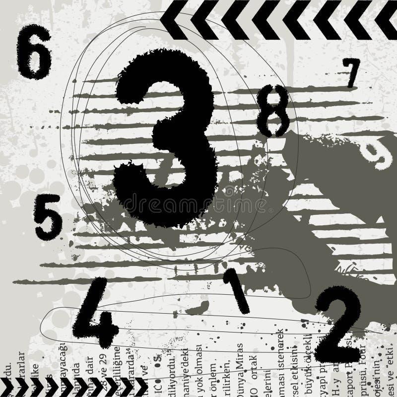 Grunge numbers royalty free illustration