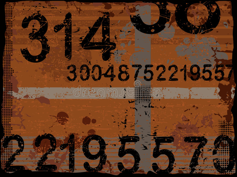Download Grunge Numbers stock vector. Image of grunge, design, creation - 2802920