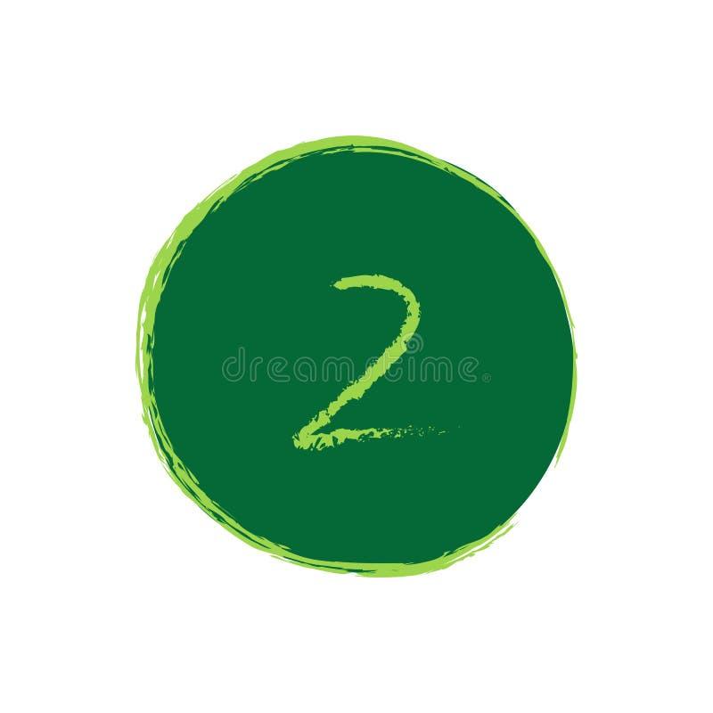 Grunge numero 2 illustrazione di stock