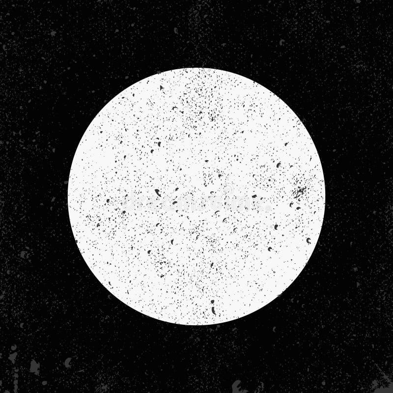 Grunge okrąg na czarnym tle royalty ilustracja