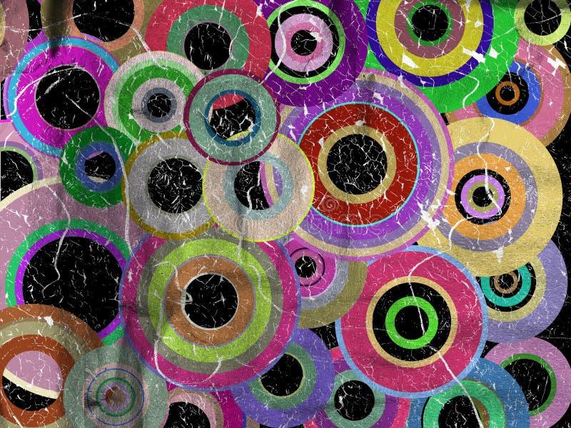 Download Grunge okręgi ilustracji. Ilustracja złożonej z dekoracyjny - 28960941