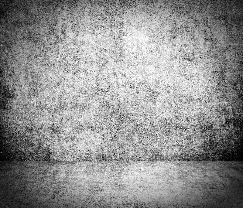 GRUNGE old gray concrete wall with the floor, the rough texture. Abstract aged antique art backdrop background black design dirty frame grunge grunge old gray royalty free illustration