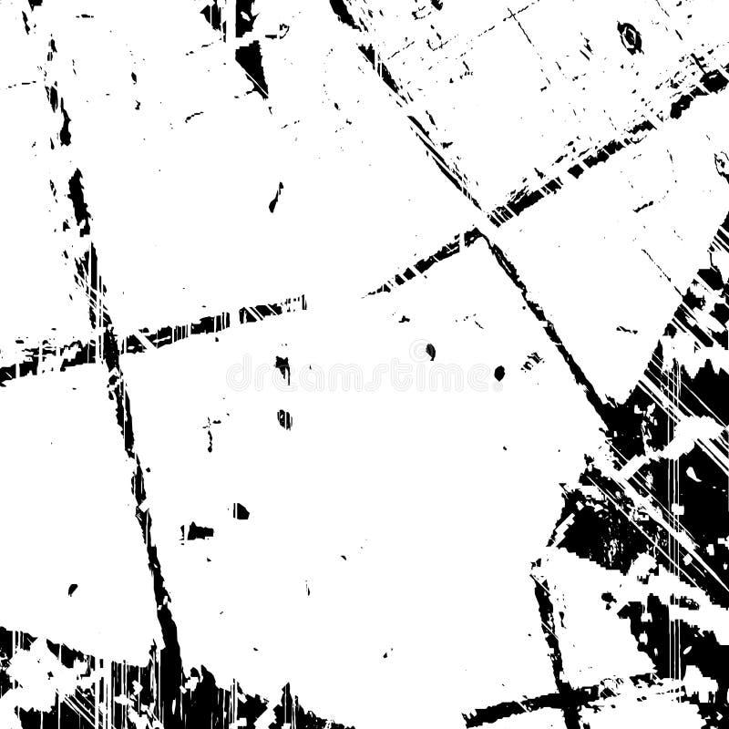 Distressed Overlay Texture. Grunge old grid mesh black cover template. Web cobweb spiderweb net distressed overlay paint texture. Striped tabby grainy backdrop stock illustration