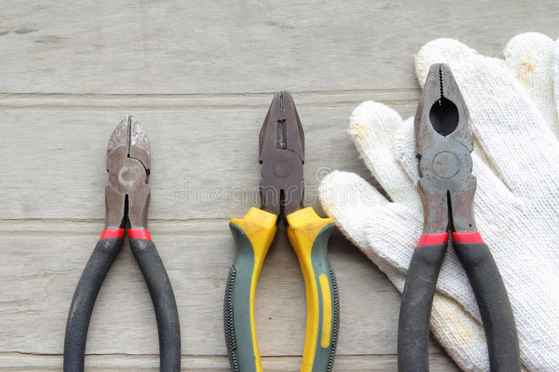 Download Grunge Old Home Tools Wrench On Wood Floor Stock Photo - Image: 26622256