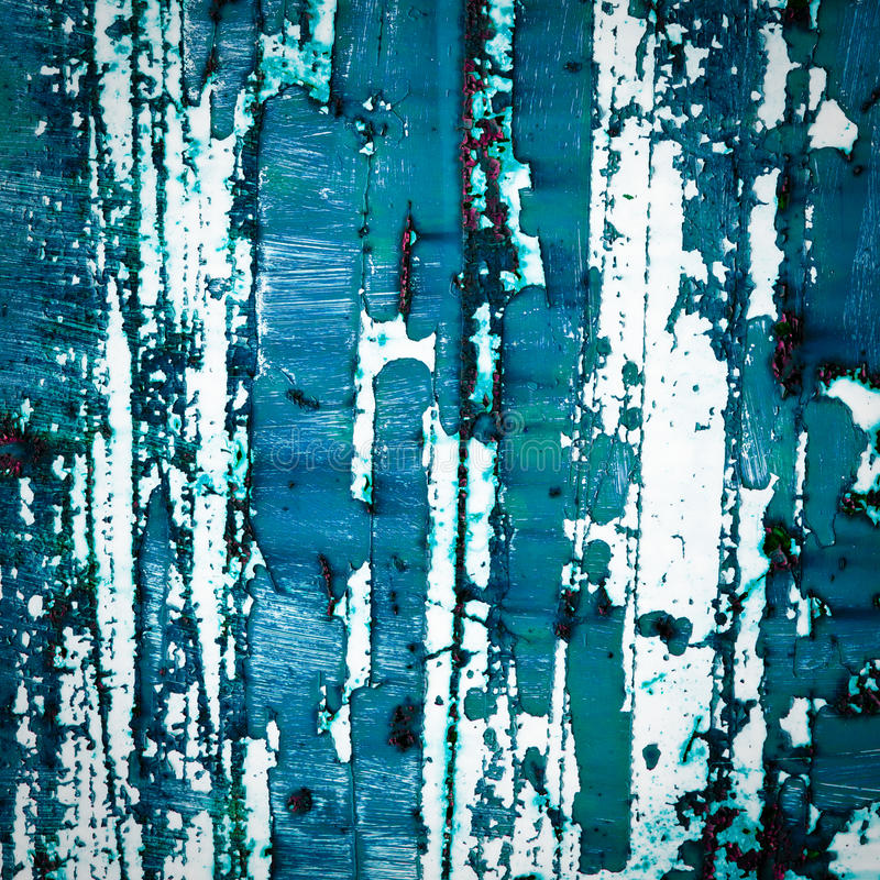 Grunge old paint texture. Old paint texture background. abstract blue painting. peeling paint surface royalty free stock photo