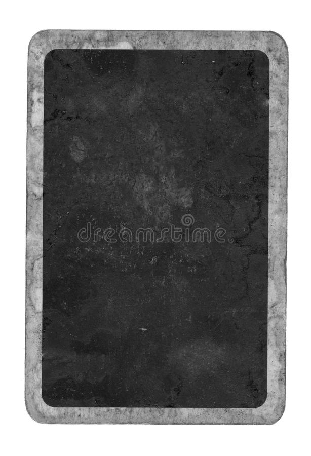 Grunge old playing card black cover background royalty free stock images