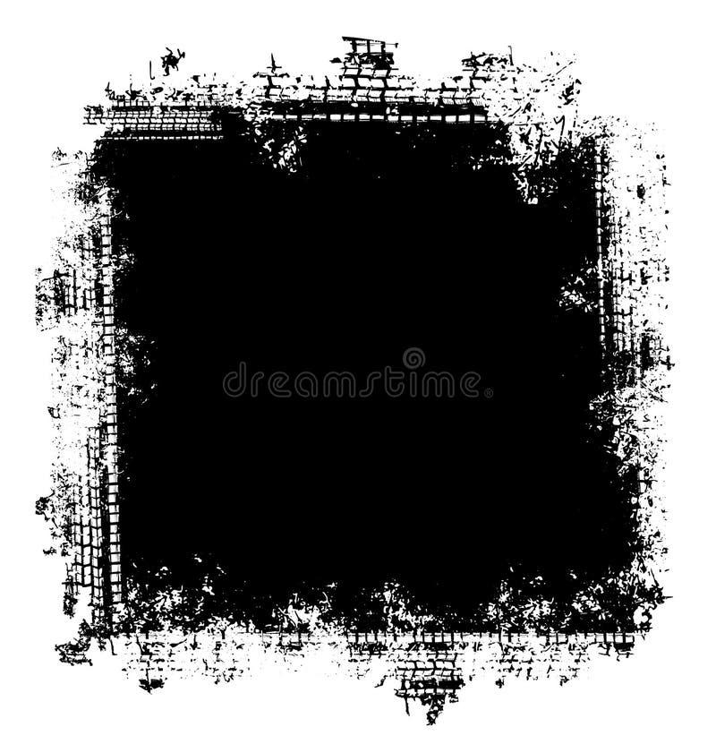 Grunge opony śladów ramowy tło ilustracja wektor
