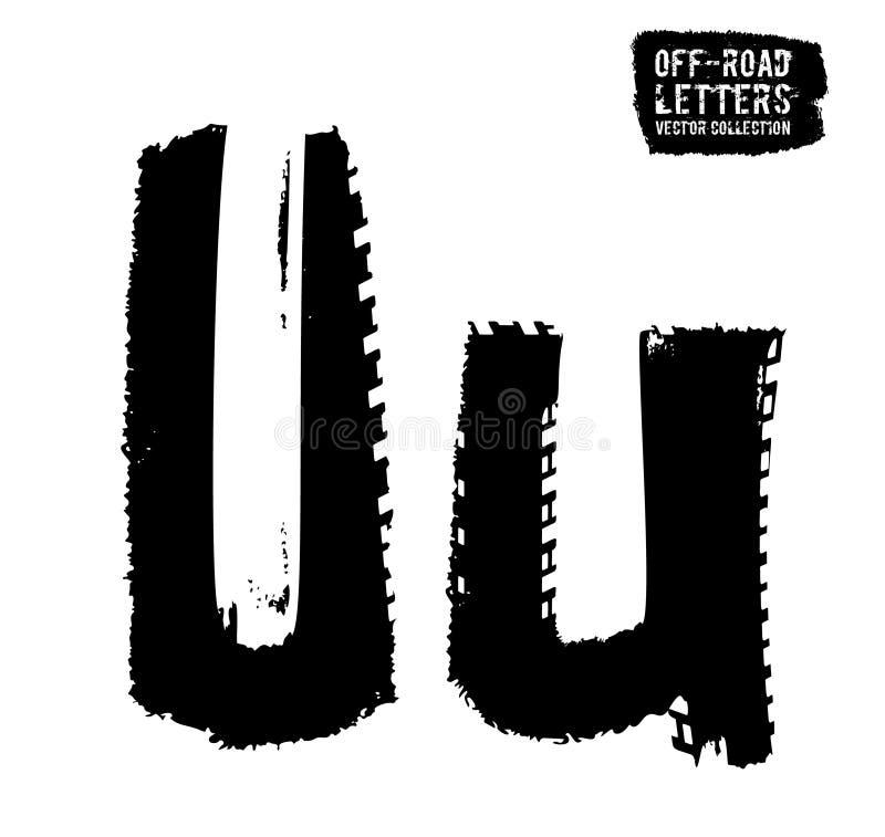 Grunge opony list ilustracja wektor