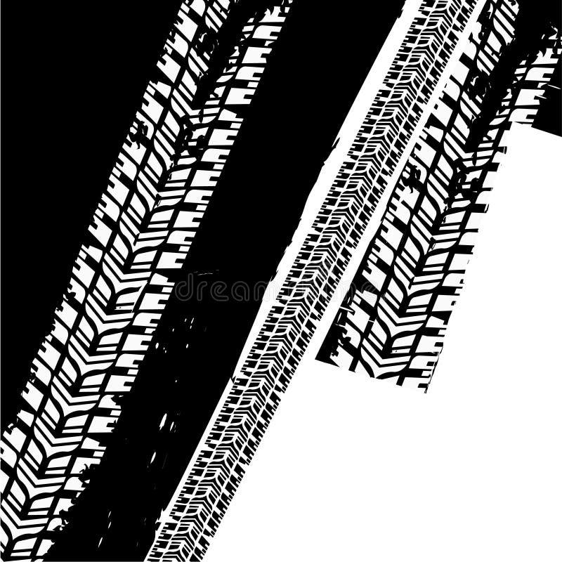 Grunge opony tło royalty ilustracja