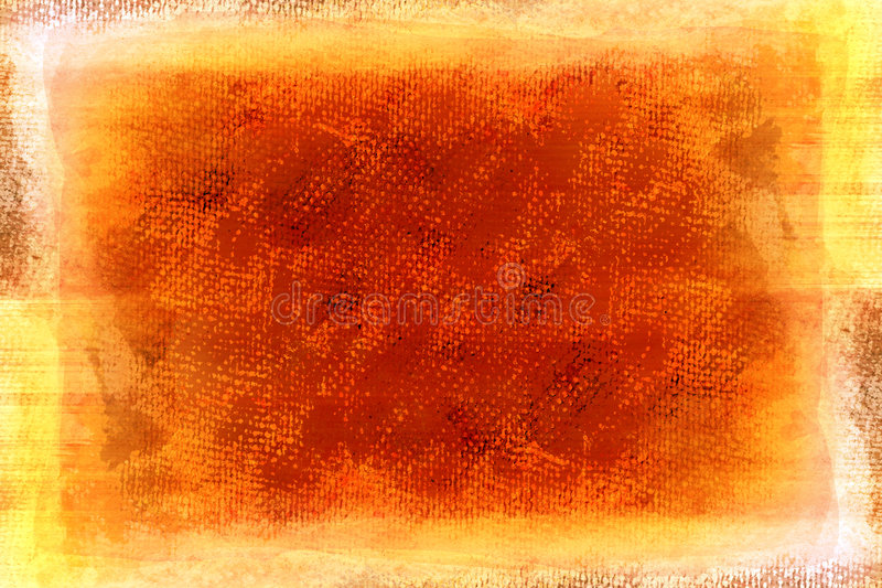 Grunge orange gemaltes Segeltuch lizenzfreie abbildung