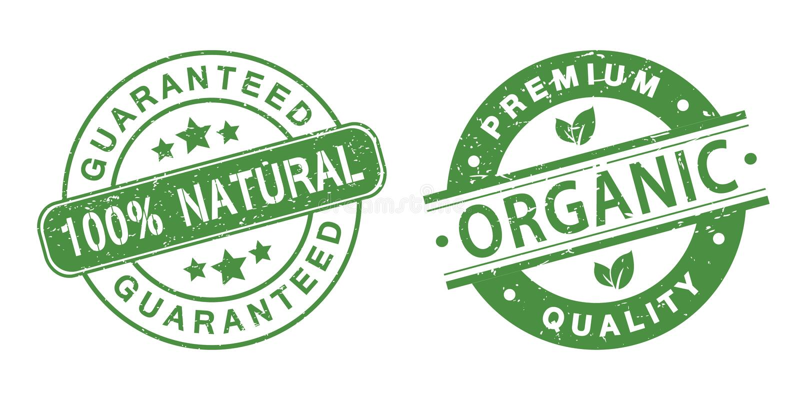Grunge organic stamps royalty free illustration